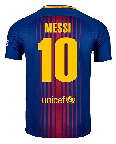 Nike Messi #10 FC Barcelona Home Soccer Jersey 2017/18 Youth (10 Nike Replica Home Jersey)