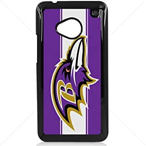 NFL American football Baltimore Ravens Fans HTC One M7 Hard Plastic Black or White case (Black)