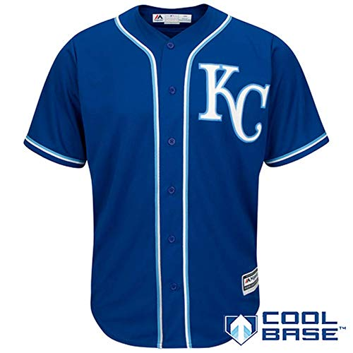 Kansas City Royals Blank Blue Kids Cool Base Alternate Replica Jersey (Kids 5/6)