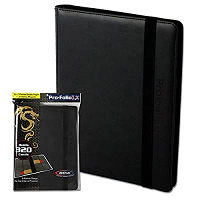 BCW Supplies Black 8-Pocket Pro-Folio LX Holder: Toys & Games