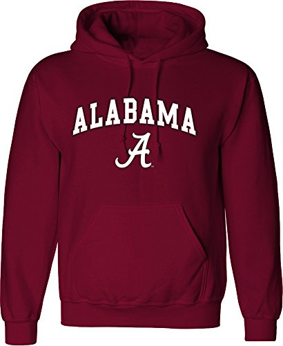 Elite Fan Shop Alabama Crimson Tide Hoodie Sweatshirt Arch Cardinal - 2XL
