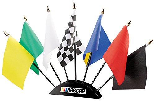 NASCAR 7-Piece Race Flag Set Christmas Holiday Duck Toy
