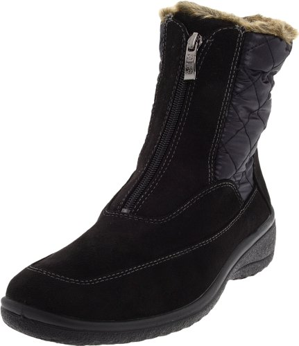 Tex Boot Gore Suede (ara Women's Maeko Boot,Black Synthetic Suede/Fabric,7.5 W US)