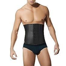 LETSQK Men's Tummy Control Steel Boned Waist Cincher Corset Trainer Sport Shapewear