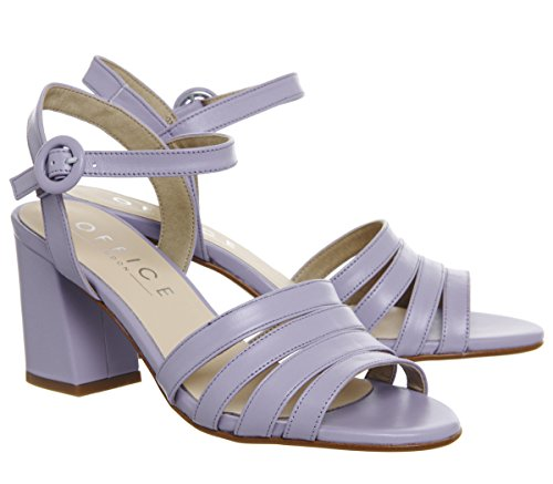 Leather Heels Mid Strappy Office Myla Lilac Block 1gw6q