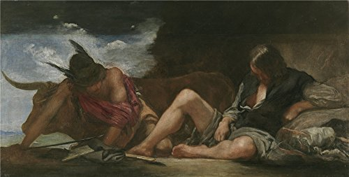 [Oil painting 'Velazquez Diego Rodriguez de Silva y Mercury and Argos Ca. 1659 ' printing on polyster Canvas , 10 x 20 inch / 25 x 50 cm ,the best Powder Room gallery art and Home artwork and Gifts is this Amazing Art Decorative Canvas] (Super Deluxe Chewbacca Costumes)