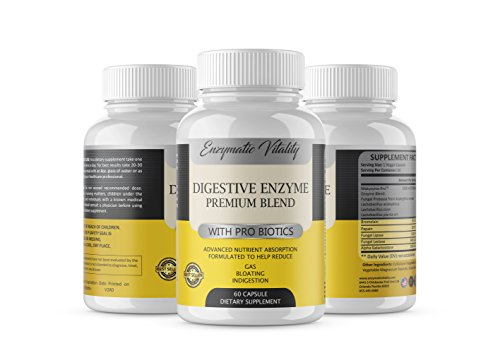 Digestive Enzymes with Probiotics Supplement – for Digestive Support, Stop Bloating & Constipation with Protease Enzyme, Bromelain, to Reduce Acid Reflux, Advanced Nutrient Absorption