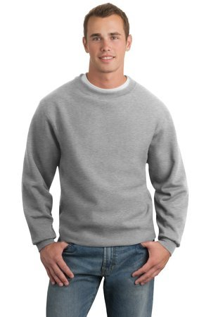 Hanes Ultimate Cotton Crewneck Sweatshirt - Sport Tek Super Heavyweight Crewneck Sweatshirt,Medium,Athletic Heather