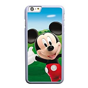 Generic Fashion Hard Back Case Cover Fit for iPhone 6 6S 4.7 inch Cell Phone Case white mickey mouse with Free Tempered Glass Screen Protector SEU-4114723