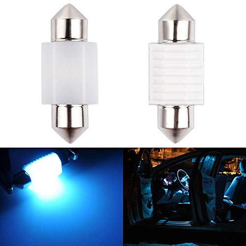 1797 Dome Light DE3175 DE3021 DE3022 LED Bulb Ice Blue 8000K 3030SMD for Cars Map License Plate Trunk Interior Lamp Replacement Festoon Super Bright 12V 2W 1 Year Warranty 31mm 1.22in Ceramic 2 Pack