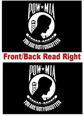 K's Novelties Double Sided POW MIA 4x6 Flag High Wind Quality 2-Ply Embroidered Sewn Poly Nylon Made in The USA