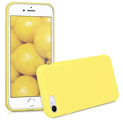 kwmobile TPU Silicone Case for Apple iPhone 7/8 - Soft Flexible Shock Absorbent Protective Phone Cover - Yellow Matte