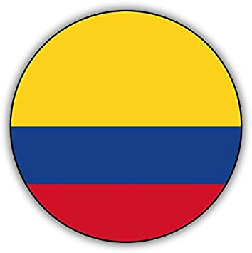 Colombia Metal Flag Car Bumper Sticker Decal 5/'/' x 5/'/'