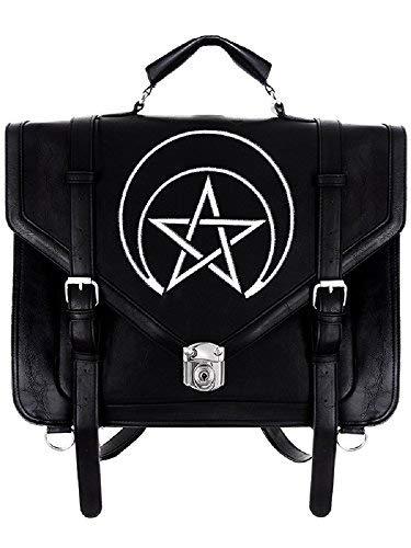Restyle Gothic Unholy Messenger Satchel Briefcase Wicca Punk Bag