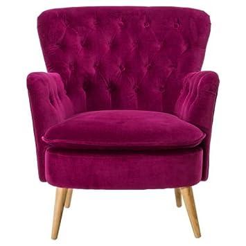 Kasandria® Sessel Carolin Beere | Roter Polstersessel | Auffälliger  Ohrensessel