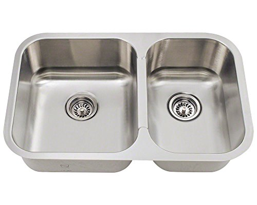 Ordinaire Polaris Sink PL035 ENS 18 Gauge Kitchen Ensemble Sink In Brushed Satin By Polaris  Sinks