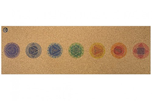 Yoloha Cork Yoga Mat Chakras Nomad Cork Travel Yoga Mat