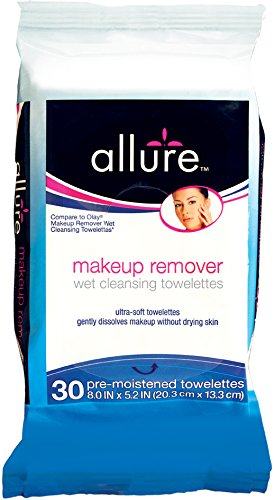 Allure Makeup Removal Wipes, 30 Count
