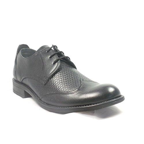 Lotus - Zapatos de cordones para hombre negro negro