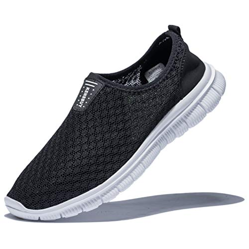 KENSBUY Mens Breathable Durable Sports Running Shoes Lightweight Mesh Walking Sneakers EU41 Black by KENSBUY (Image #8)