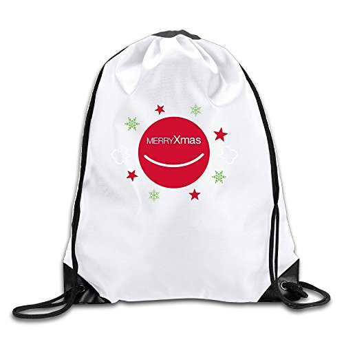 Xmas Lightweight Drawstring Pouch Backpack White Size One Size (Arbor String Lights)