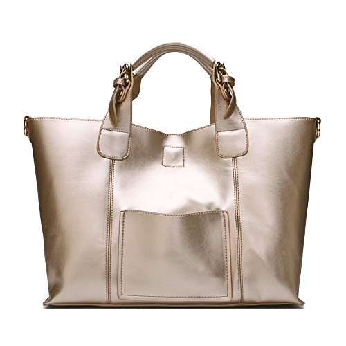 Main Grande Imperméable Messenger Casual Vintage à Sac KYOKIM Bandoulière Gold Sac Capacité Bag à Lady w4qCqvF