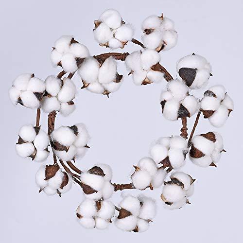Lvydec Mini-Sized Cotton Wreath Decor, 10