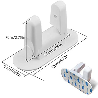 WETONG Door Lever Lock (2 Pack) Child/Pets Proof Baby Proofing Door Handle Lock Latches 3M Adhesive - Child Safety Locks