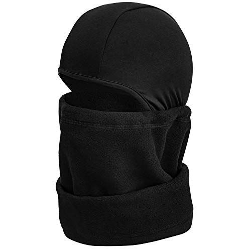 mysuntown Ski Mask Winter Balaclava Face Mask for Motorcycle Cycling Hiking Skiing Outdoor Sports (Black)