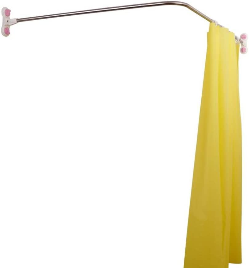 Amazon Com Baoyouni Curved Shower Curtain Rod Suction Cups L