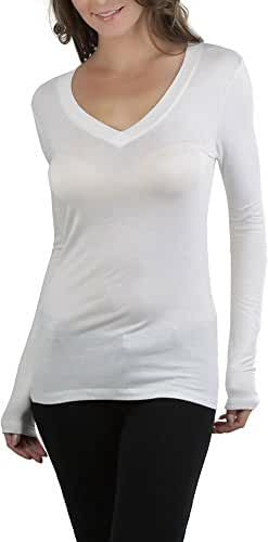 ToBeInStyle Women's V-Neck Long Sleeve Top