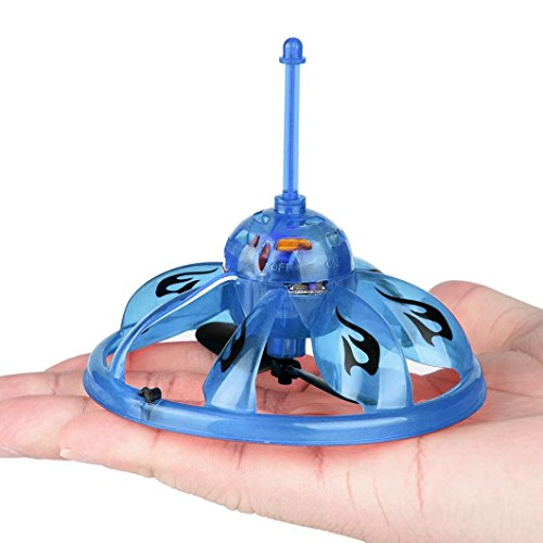 Price comparison product image Mchoice Hand Flying UFO Ball LED Mini Induction Suspension RC Aircraft Flying Toy Drone (Blue)
