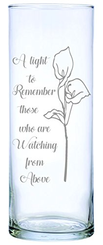 Floating Wedding Memorial Candle - IE Laserware Lily permanently laser engraved, etched on this beautiful Floating Memorial Candle, comes complete with 2