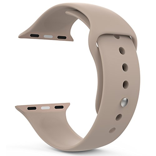 MoKo Apple Watch Band Series 1 Series 2, Soft Silicone Replacement Sports Band for 42mm Apple Watch 2015 & 2016 All Models, WALNUT (Not fit 38mm Versions)