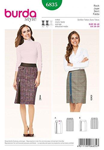Patrón de costura para traje de neopreno para mujer Burda 6835 ...