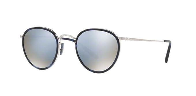 619f00c825c Oliver Peoples Vintage Sunglasses MP-2 100% Authentic (Blue Frame Mirror  Sliver Lens