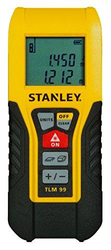 Stanley TLM 99 Entfernungsmesser 30 m / Laser-Entfernungsmesser / Distanzmesser / Flächenmessung / Volumenmessung, STHT1-77138