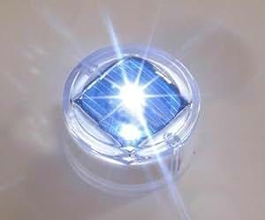 XIQI 0.06W Round Plastic Underground Tracfic LED Solar Garden Light (WHITE, Flash Style)