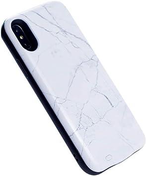 HiKiNS Funda Batería para iPhone XS MAX, Diseño de mármol Blanco [6000mAh] Cargador Recargable extendido Estuche de Carga de protección portátil para iPhone XS MAX: Amazon.es: Electrónica