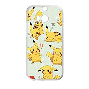 Happy Anime cartoon Pokemon Pikachu Cell Phone Case for HTC One M8
