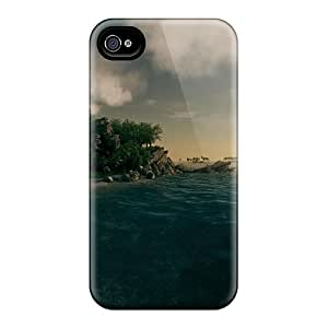New Arrival Premium 4/4s Case Cover For Iphone (deep Blue Ocean Fantasy)