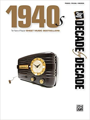 decade by decade 1950s ten years of popular hits arranged for easy piano