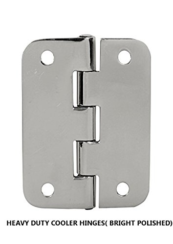 Cooler Hinge Set of 2 PCS Stainless Steel Bright Mirror Polished Life TIME Durable ICE Chest Replacement Hinge 8 pcs Stainless Steel Screws) by SS iSKCON (Image #3)