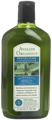 Avalon Organics Peppermint Revitalizing Conditioner, 11-Ounce Bottle (Pack of 3)
