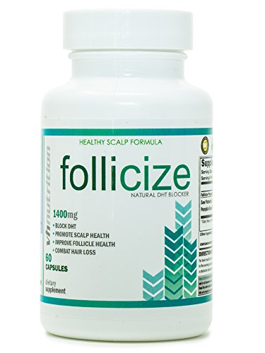 VH Nutrition | Follicize | DHT Blocker for Men and Women | Hair Regrowth Supplement - 30 Day Supply - 60 Capsules