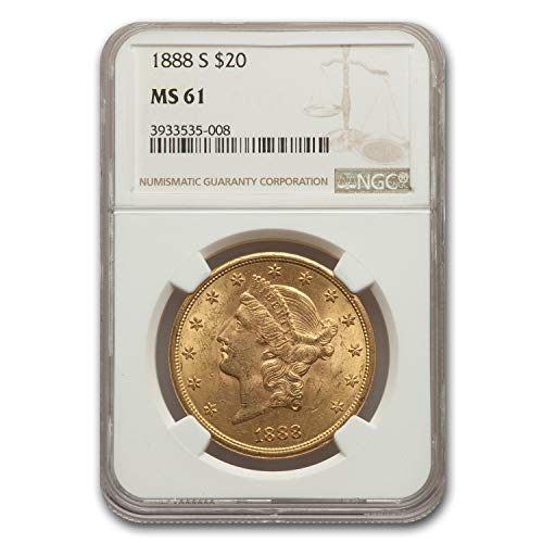 1888 S $20 Liberty Gold Double Eagle MS-61 NGC G$20 MS-61 NGC