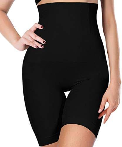 AtRenty Women's Shapewear Tummy Control High-Waist Mirror Essentials Body Shaper Shorts Seamless Thigh Panties