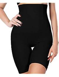 86f58f0d6a Women s Shapewear Tummy Control High-Waist Mirror Essentials Body Shaper  Shorts Seamless Thigh Panties