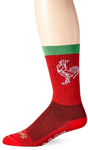 SockGuy, Men's Wool Socks - Large/X-Large, Sriracha (Sriracha Socks)