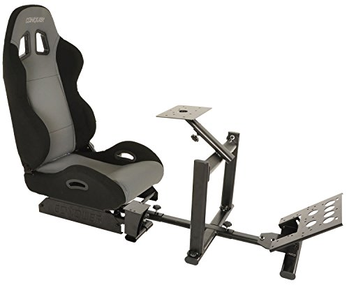 41Dpwm6l5CL - Conquer-Racing-Simulator-Cockpit-Driving-Seat-Reclinable-with-Gear-Shifter-Mount